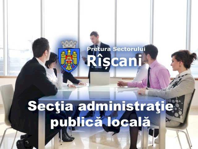 Secţia administraţie publică locală